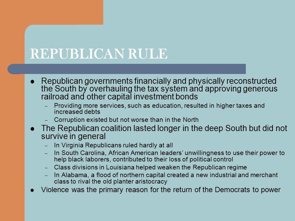 REPUBLICAN RULE