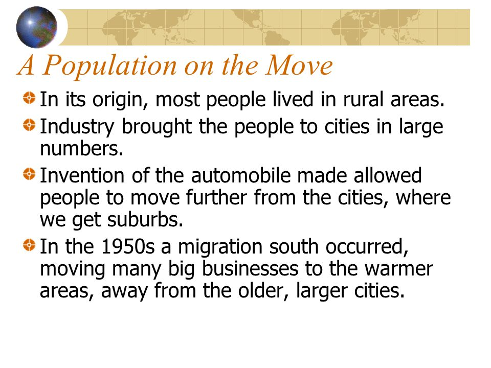 A Population on the Move