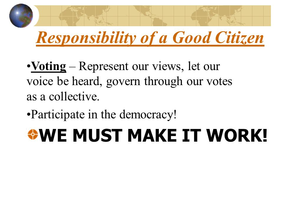 Responsibility of a Good Citizen