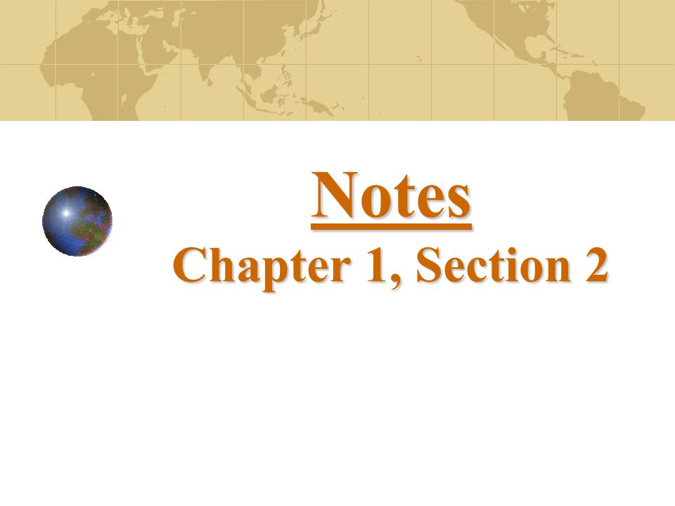 Notes Chapter 1, Section 2