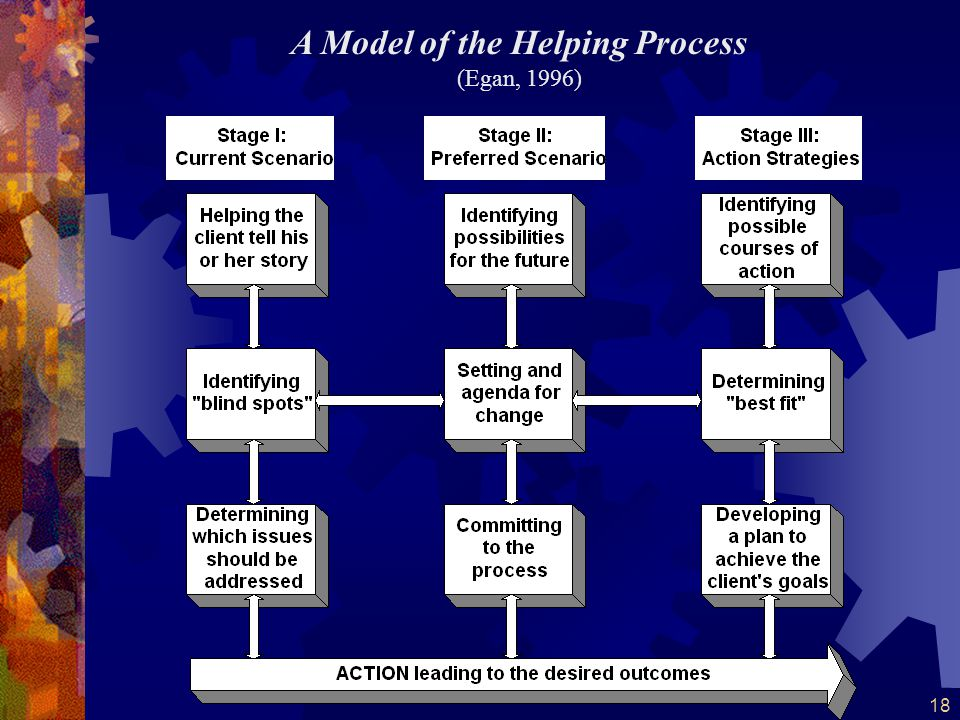 A Model of the Helping Process (Egan, 1996)