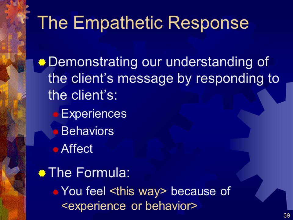 The Empathetic Response