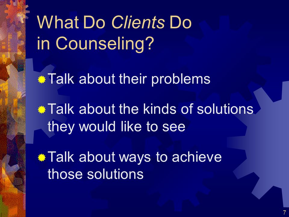 What Do Clients Do in Counseling