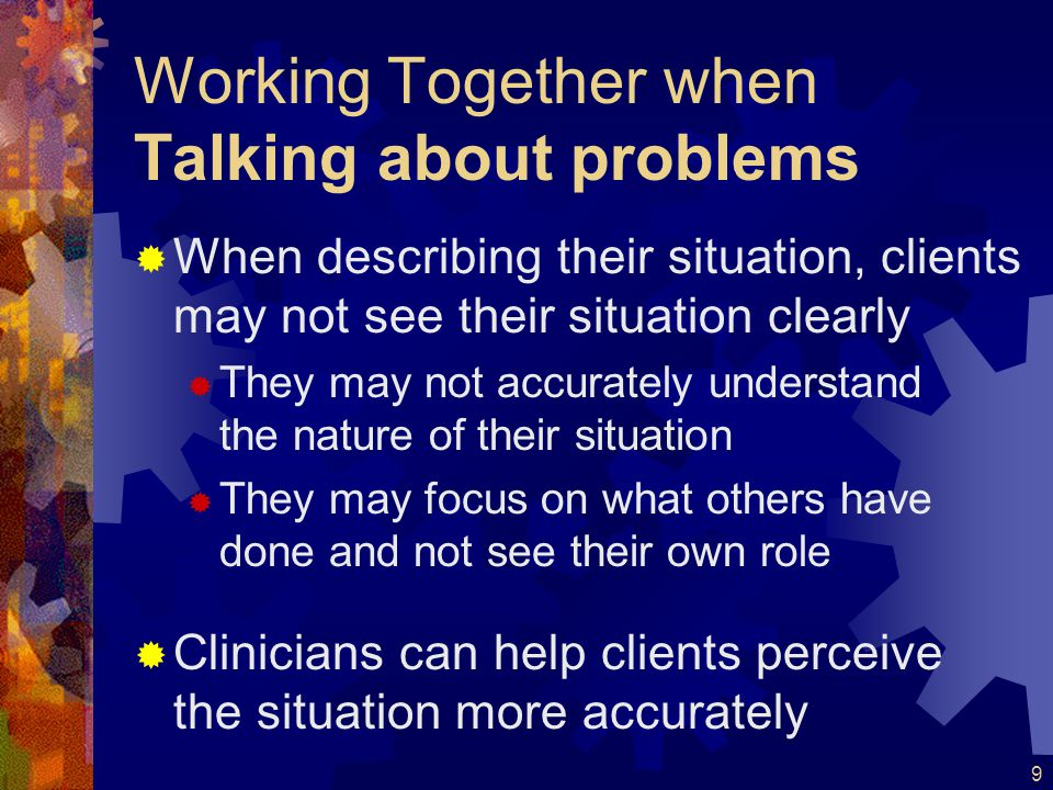 Working Together when Talking about problems
