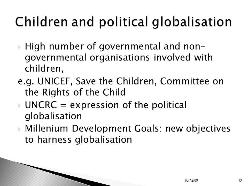 Children and political globalisation