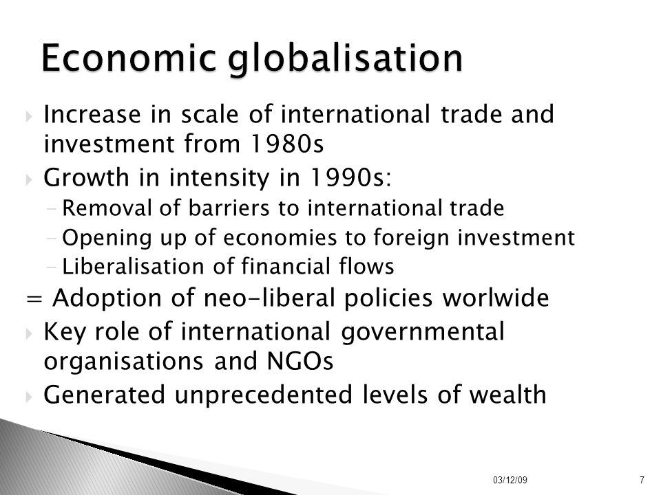 Economic globalisation