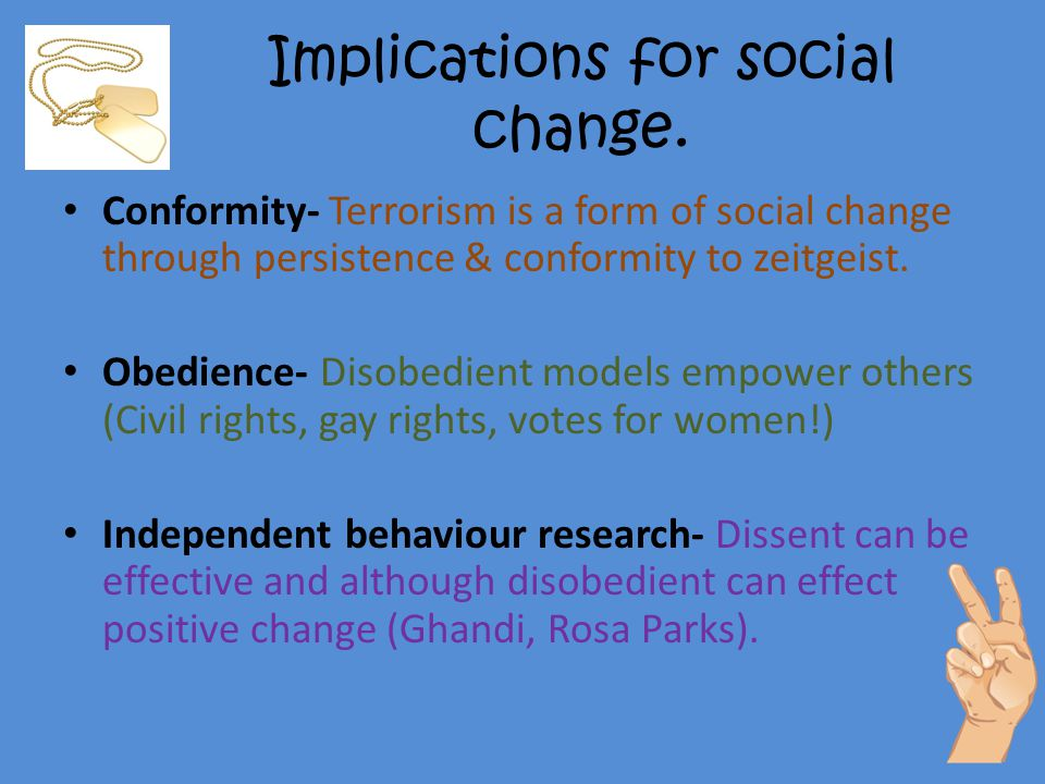 Implications for social change.
