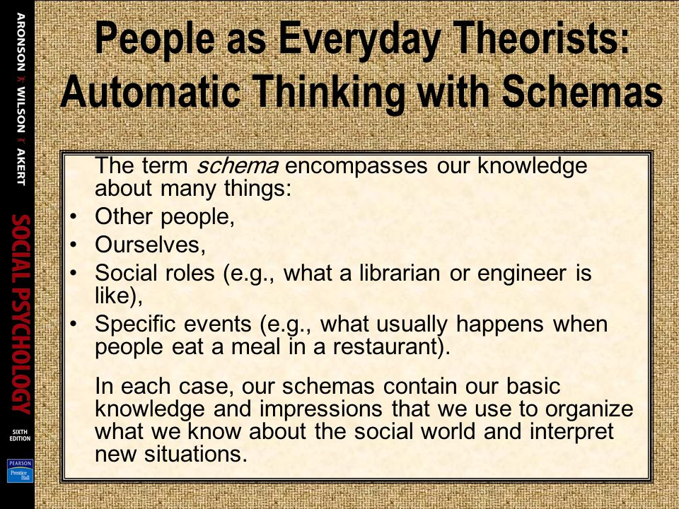 People as Everyday Theorists: Automatic Thinking with Schemas