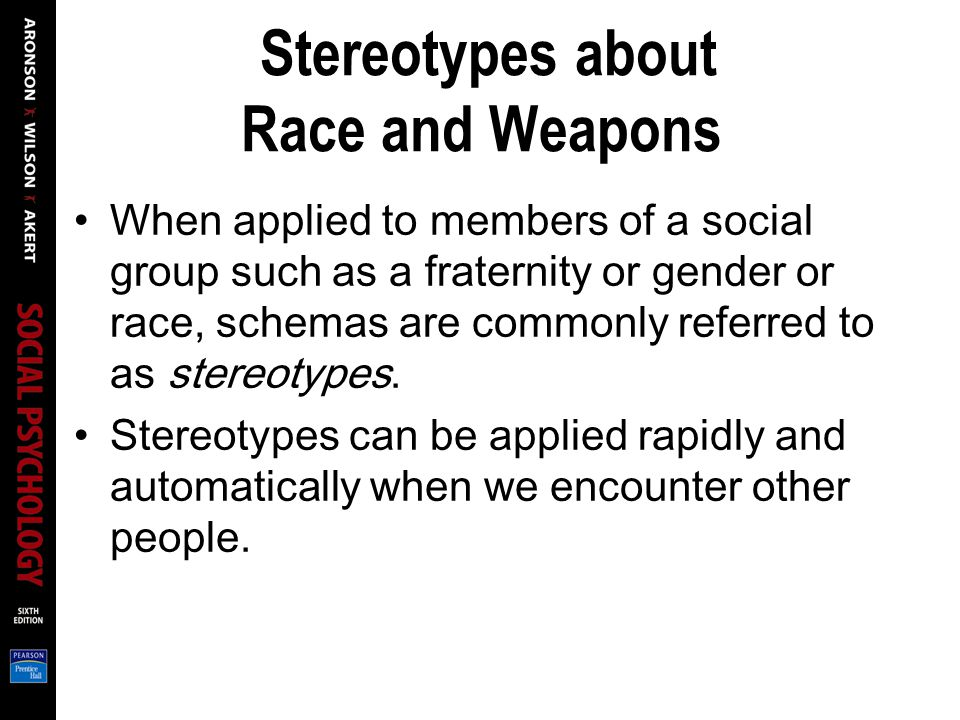 Stereotypes about Race and Weapons