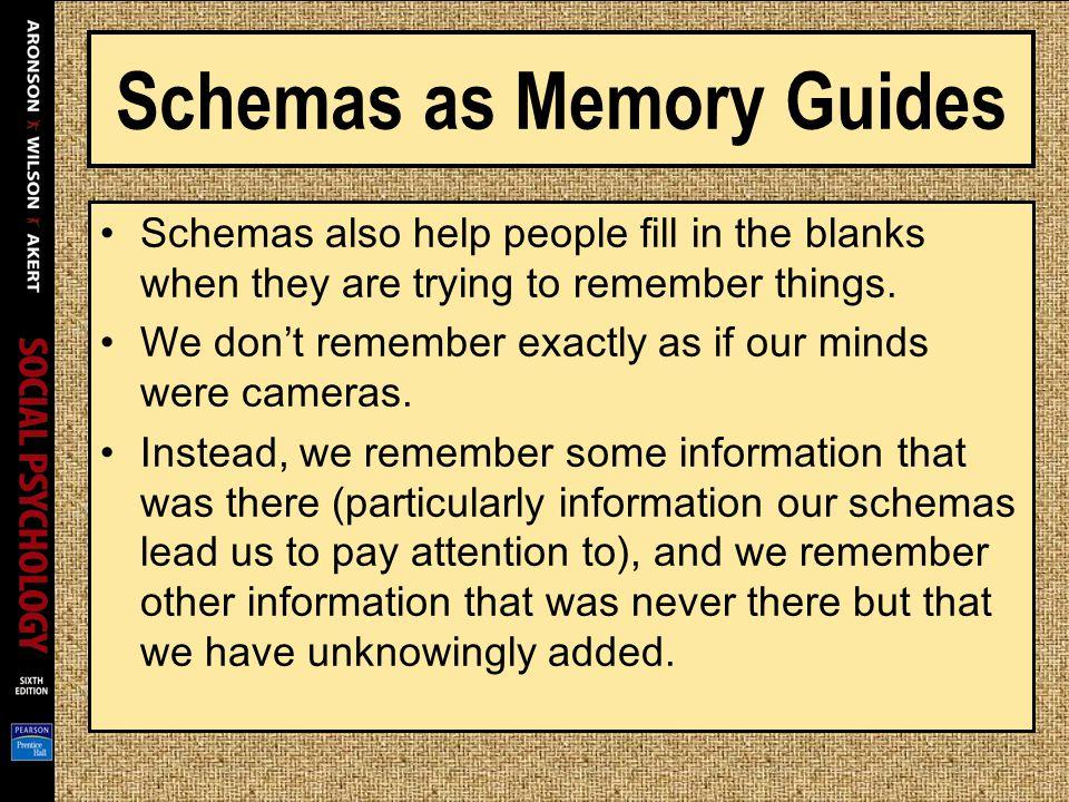 Schemas as Memory Guides
