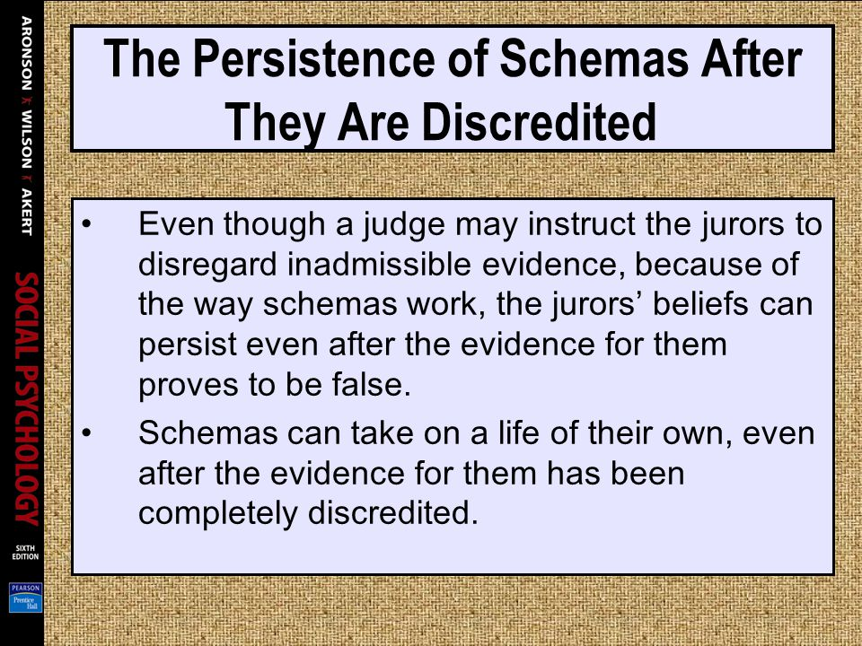 The Persistence of Schemas After They Are Discredited
