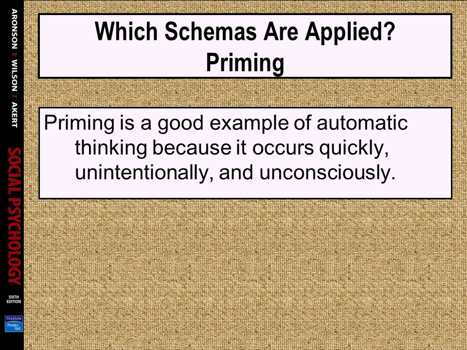 Which Schemas Are Applied Priming