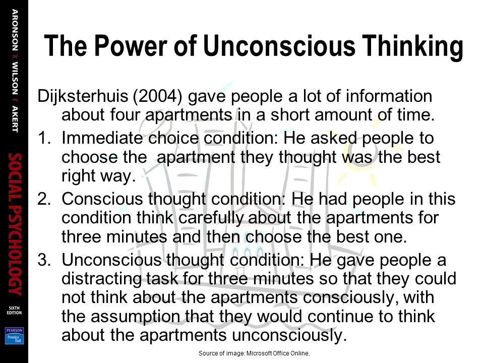 The Power of Unconscious Thinking