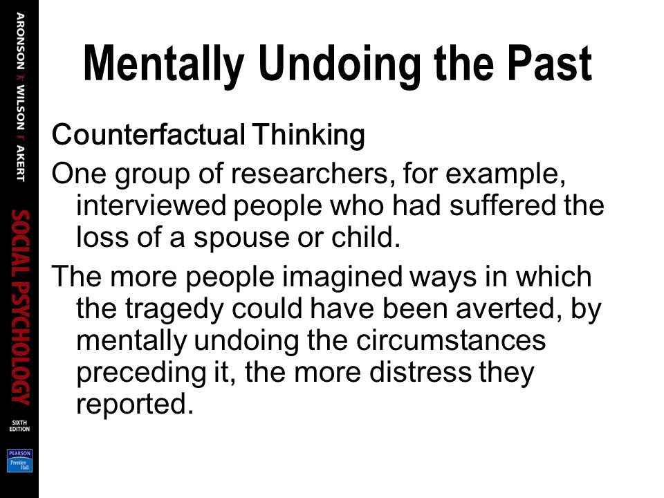 Mentally Undoing the Past