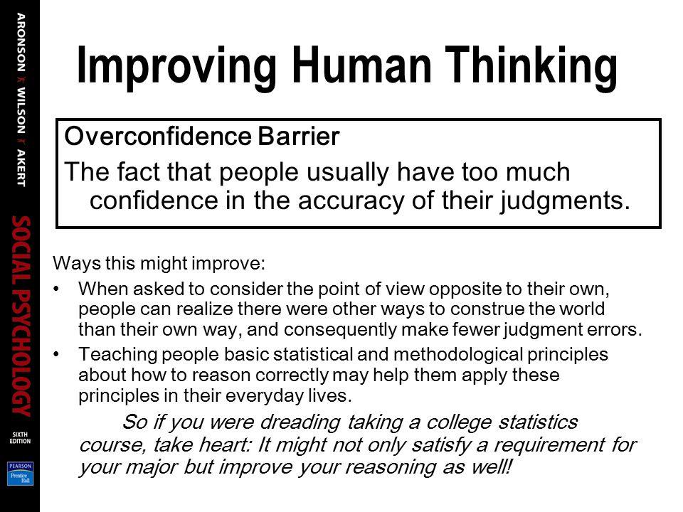 Improving Human Thinking