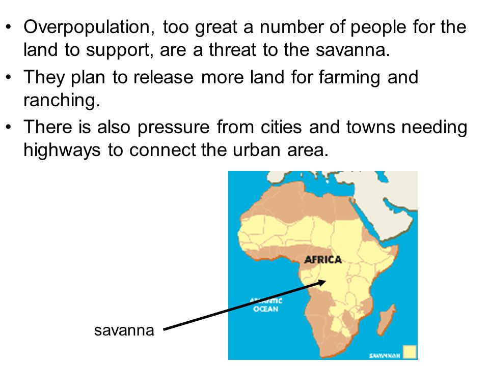 They plan to release more land for farming and ranching.