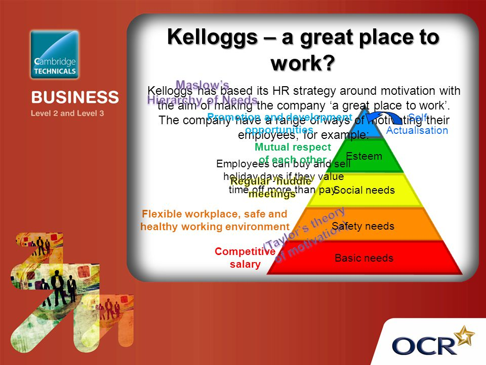 Kelloggs – a great place to work