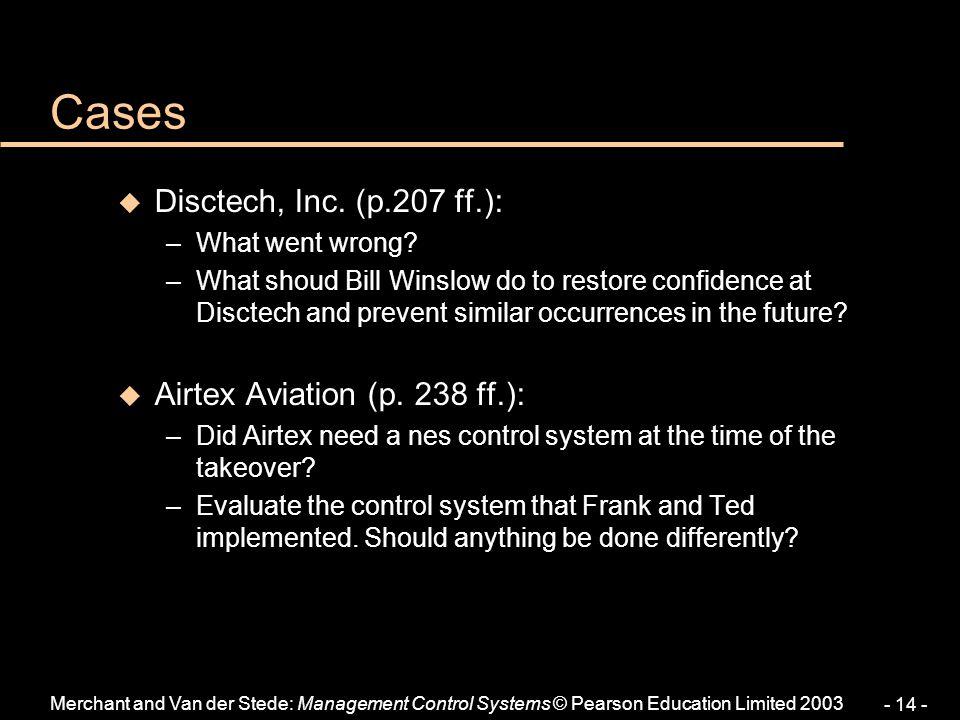Cases Disctech, Inc. (p.207 ff.): Airtex Aviation (p. 238 ff.):