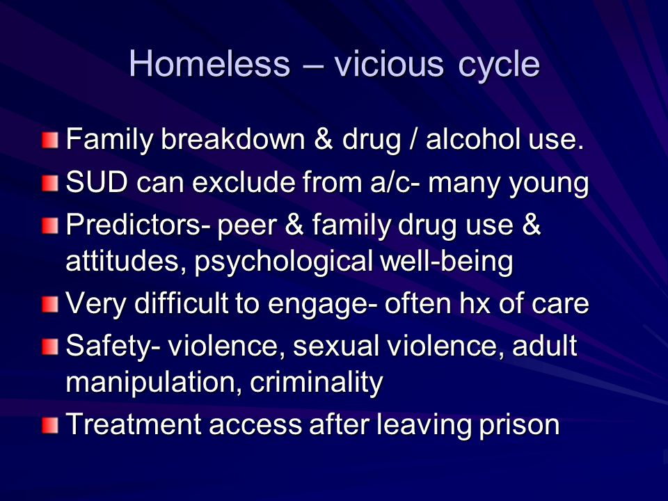 Homeless – vicious cycle