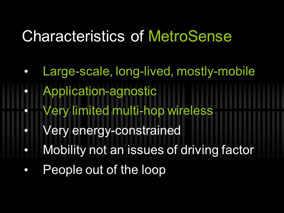 Characteristics of MetroSense