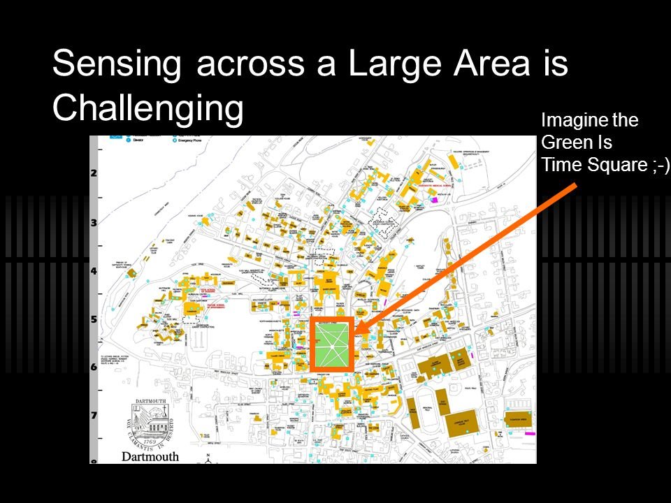 Sensing across a Large Area is Challenging