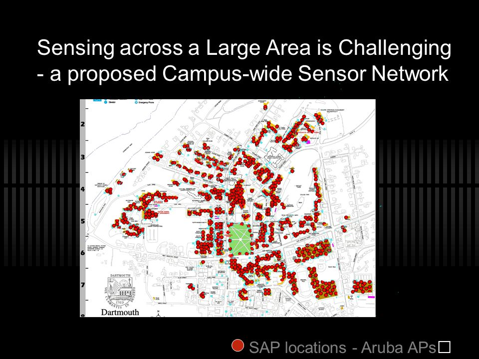 Sensing across a Large Area is Challenging - a proposed Campus-wide Sensor Network