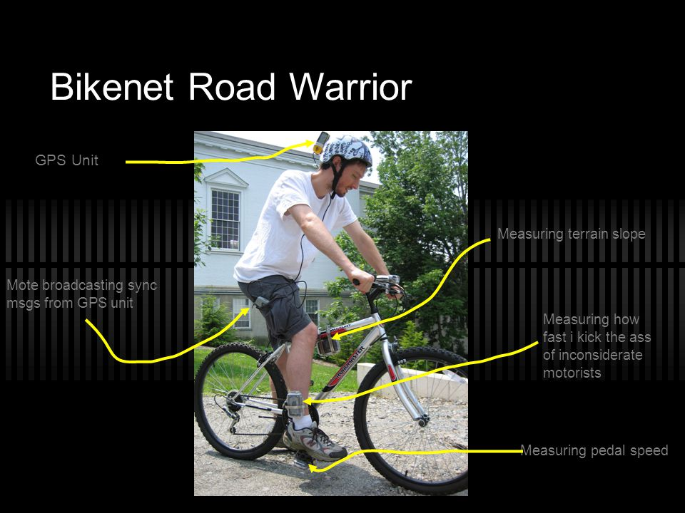Bikenet Road Warrior GPS Unit Measuring terrain slope