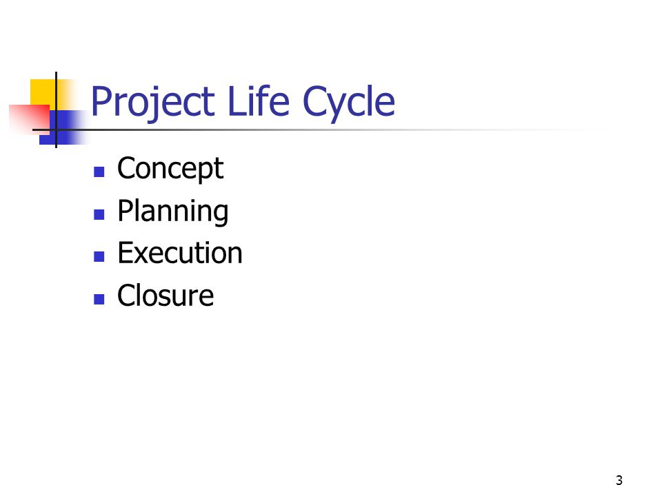 Project Life Cycle Concept Planning Execution Closure