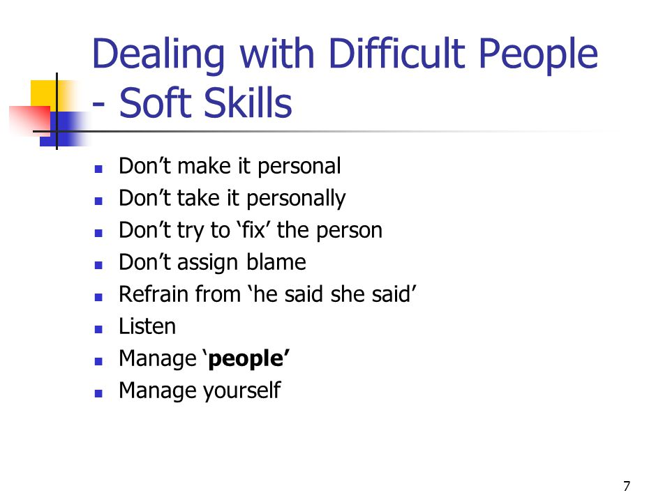 Dealing with Difficult People - Soft Skills