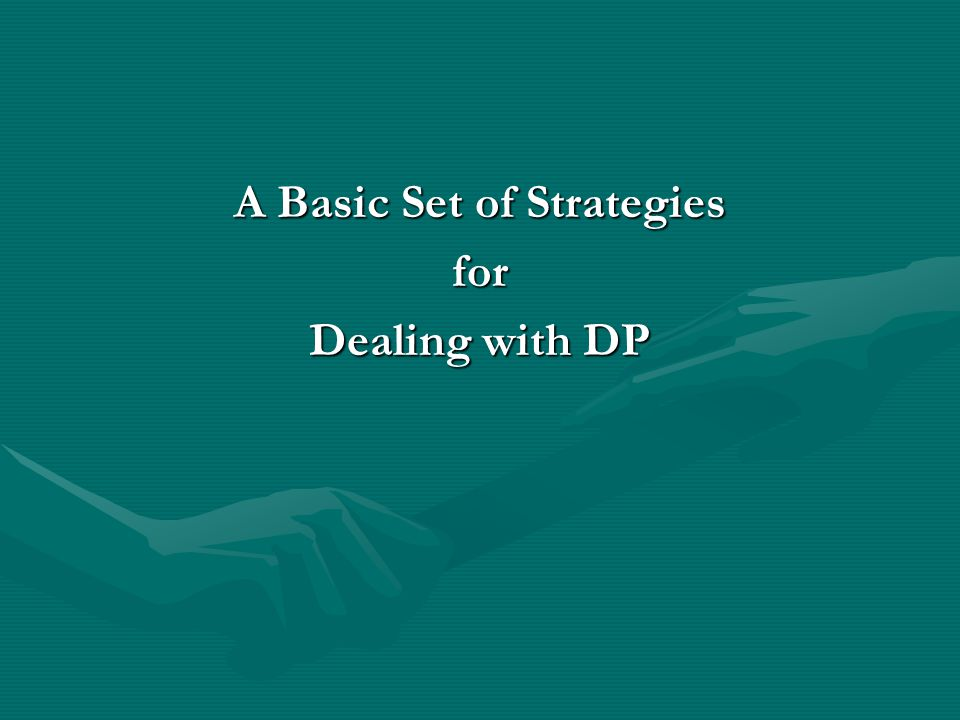 A Basic Set of Strategies