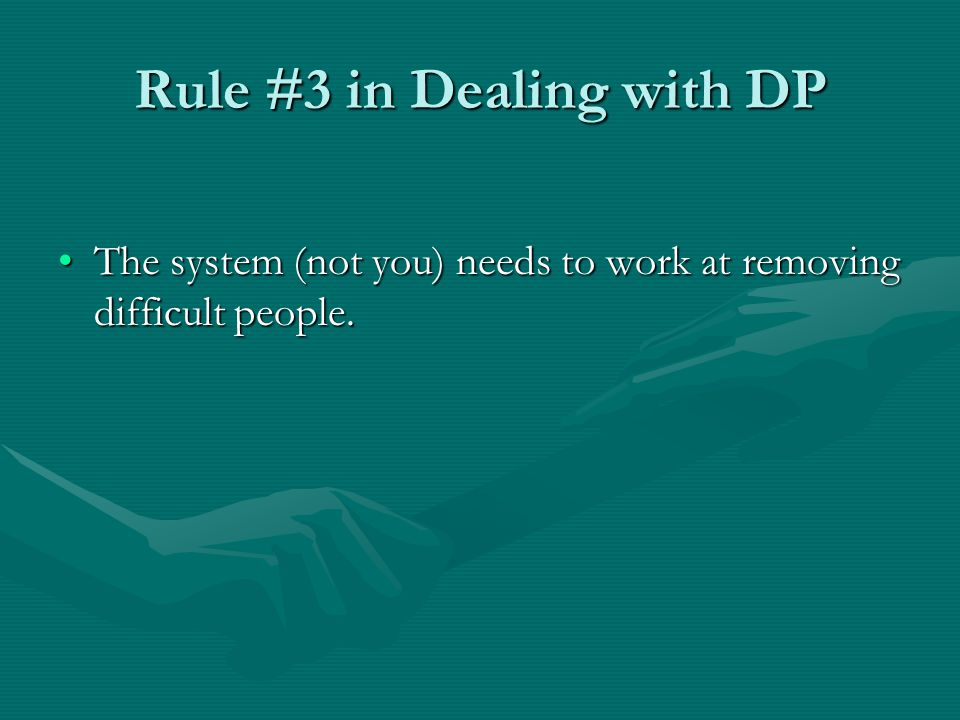 Rule #3 in Dealing with DP