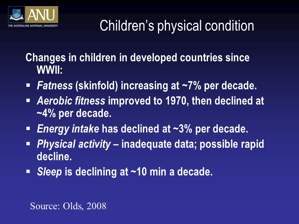 Children's physical condition