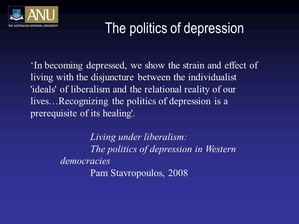 The politics of depression