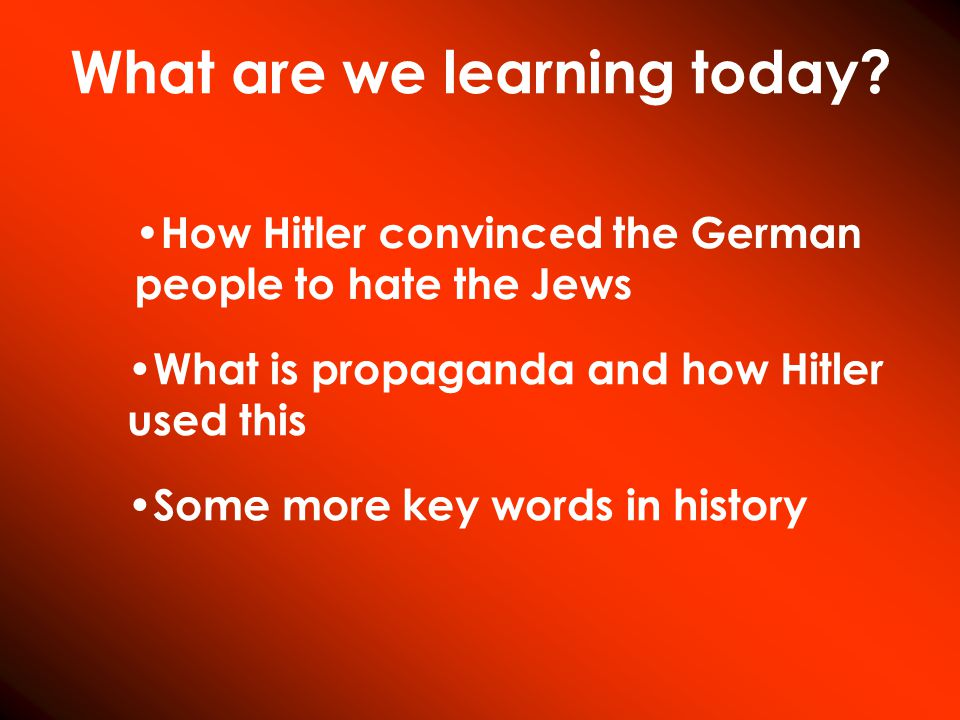 What are we learning today