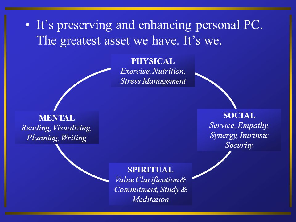 It's preserving and enhancing personal PC. The greatest asset we have