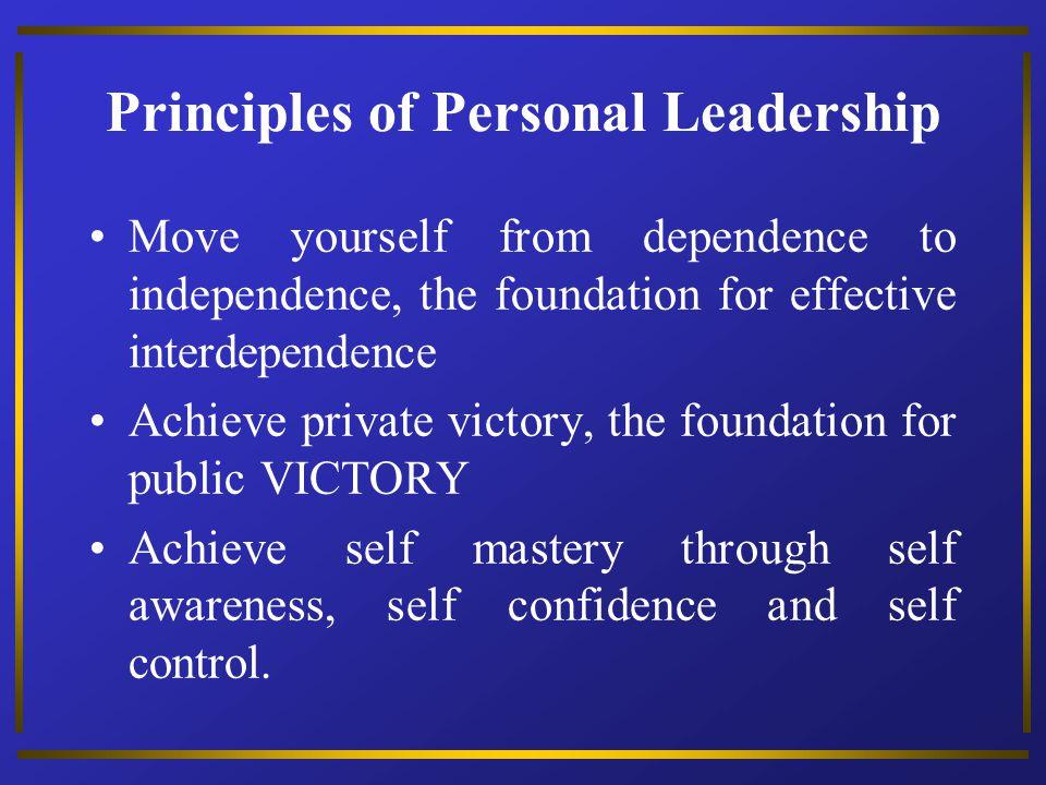 Principles of Personal Leadership