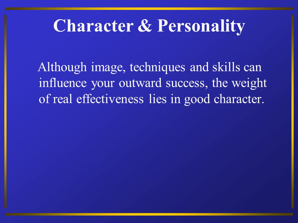 Character & Personality