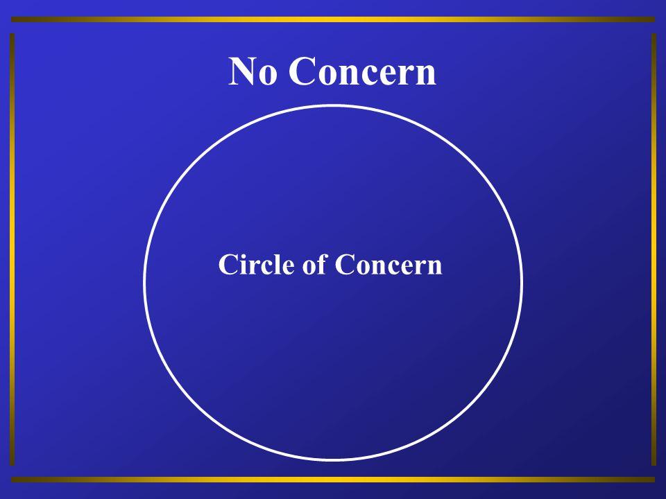 No Concern Circle of Concern