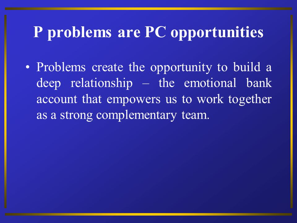 P problems are PC opportunities