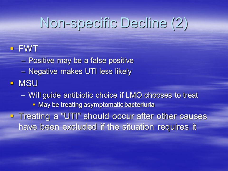 Non-specific Decline (2)