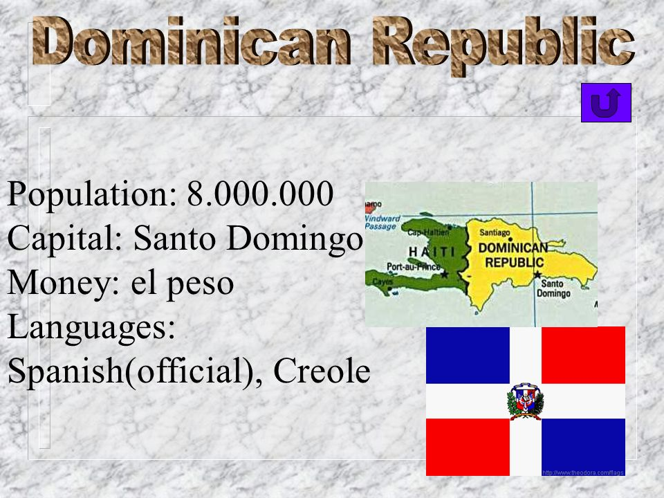 Capital: Santo Domingo Money: el peso