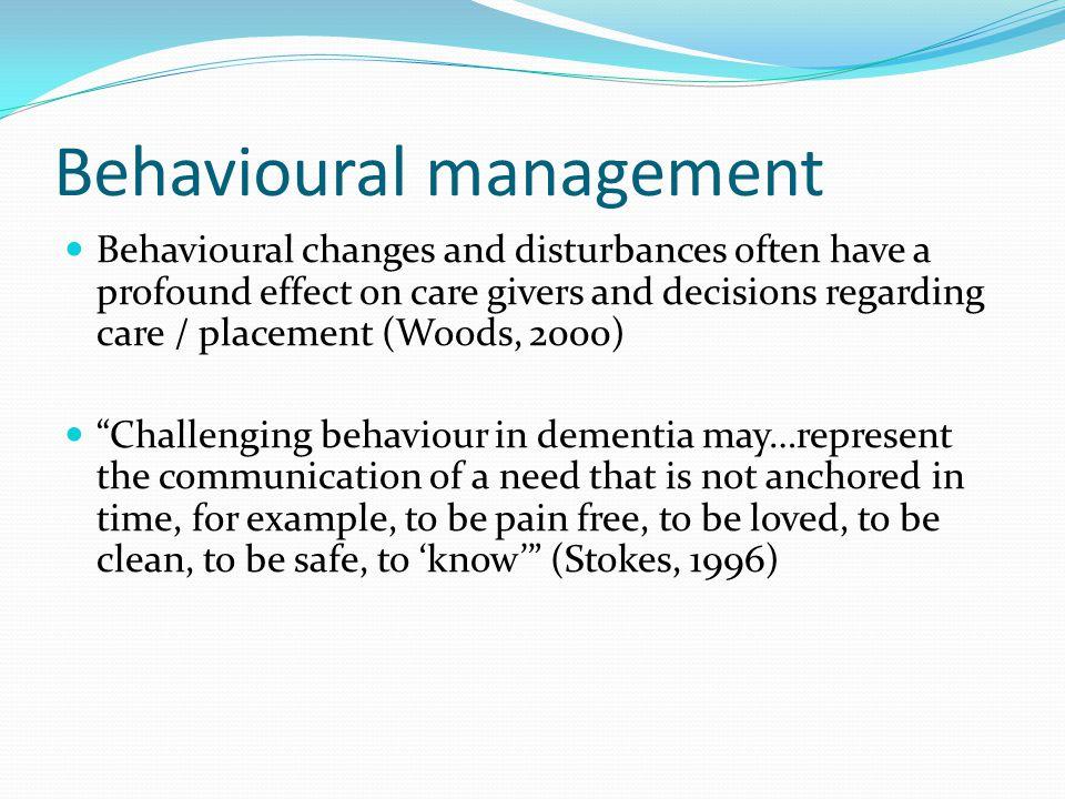 Behavioural management