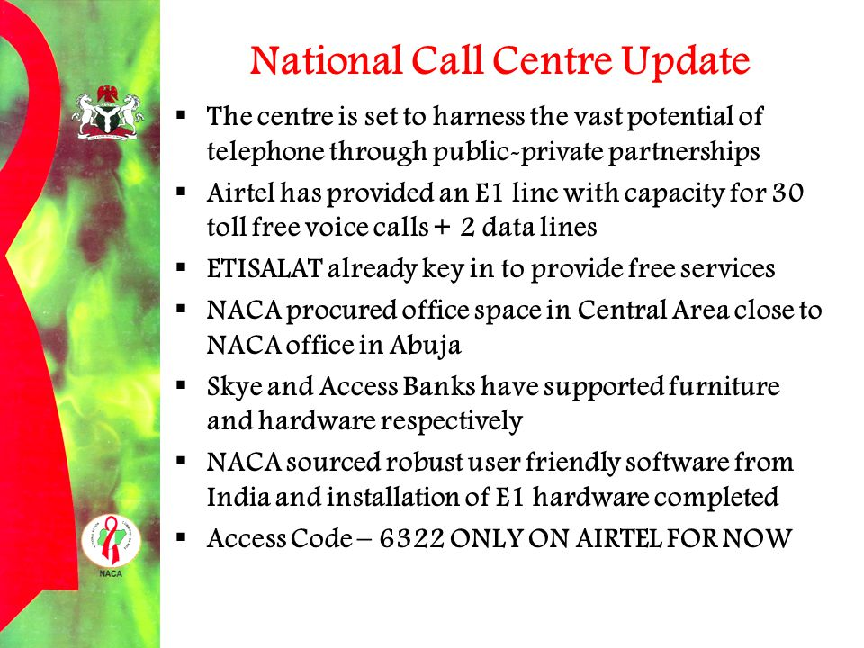 National Call Centre Update