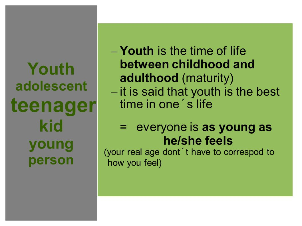 Youth adolescent teenager kid young person