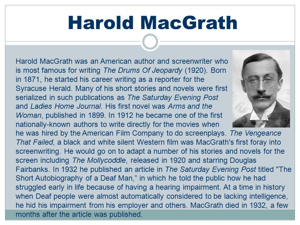 Harold MacGrath