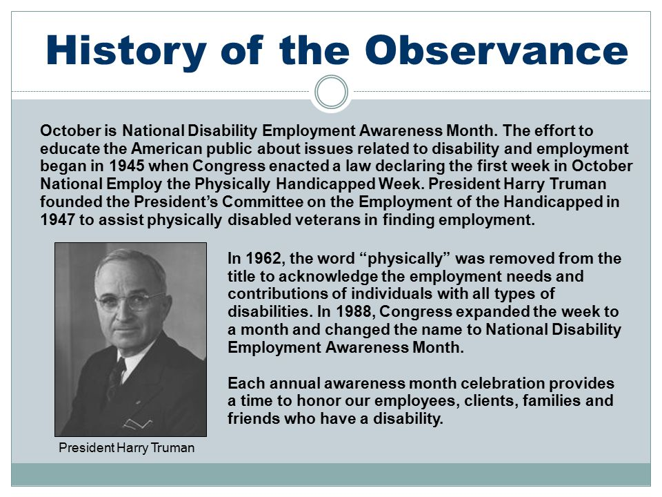 History of the Observance