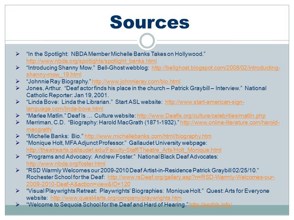 Sources In the Spotlight: NBDA Member Michelle Banks Takes on Hollywood. http://www.nbda.org/spotlights/spotlight_banks.html.