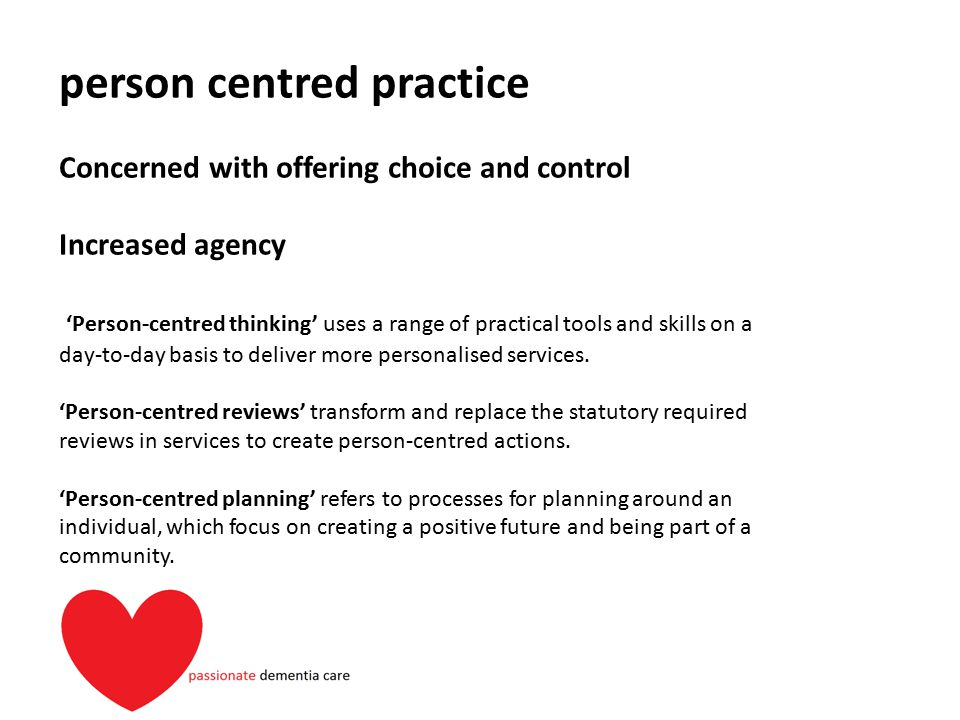 person centred practice