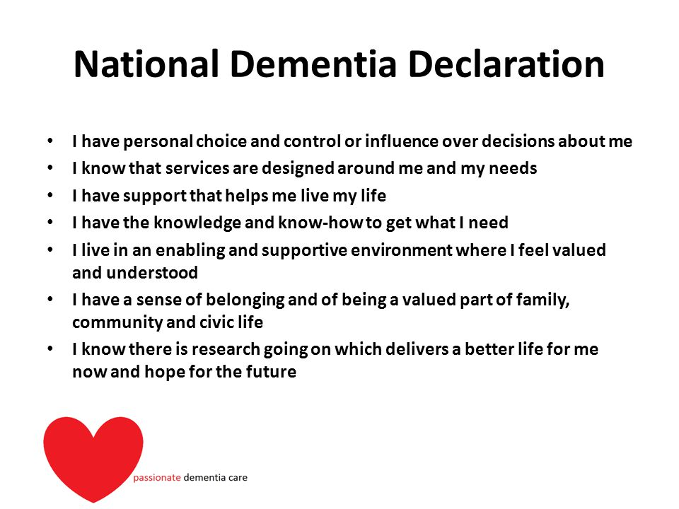 National Dementia Declaration