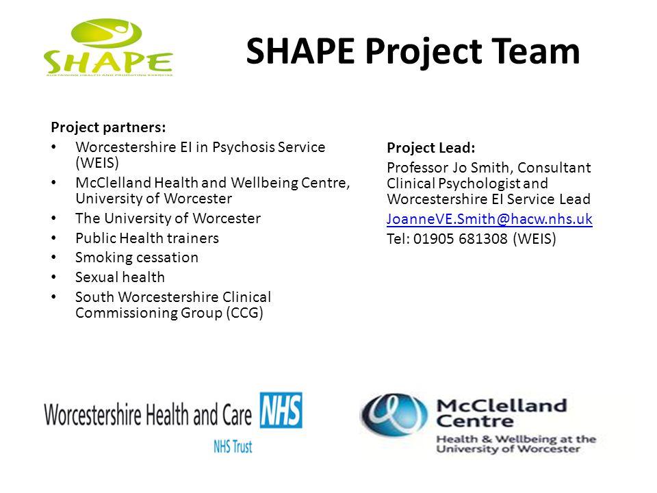 SHAPE Project Team Project partners: